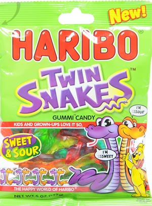 Haribo Sweet & Sour Twin Snakes