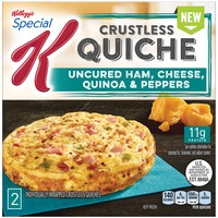 Kellogg's Special K Crustless Uncured Ham, Cheese, Quinoa & Peppers Quiche