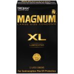 Trojan Magnum XL Extra Large Size Lubricated Latex Condoms - 12 ct