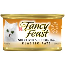 Purina Fancy Feast Classic Tender Liver & Chicken Feast Cat Food 3 oz. Can