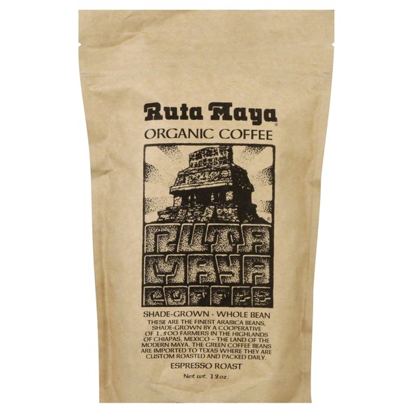 Ruta Maya Organic, Whole Bean, Espresso Roast Coffee