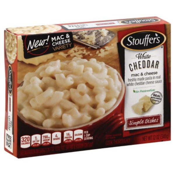 Stouffer's Simple Dishes Freshly made pasta in a Real White Cheddar cheese sauce White Cheddar Mac & Cheese