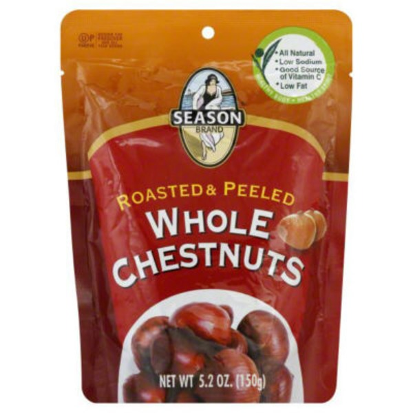 Season Brand Organic Whole Chestnuts Roasted & Shelled