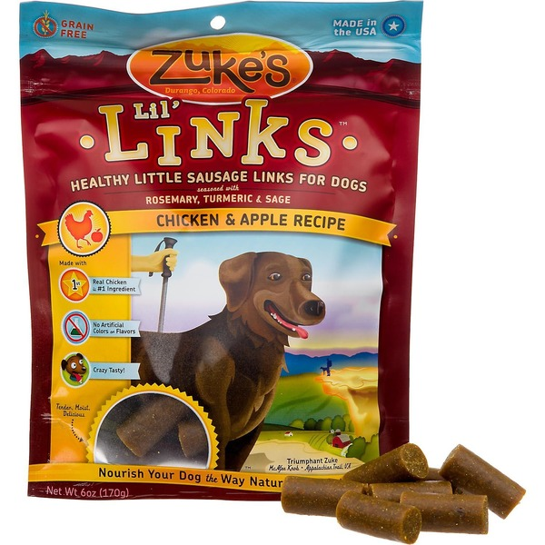 Zuke's Chicken And Apple Recipe Lil' Links For Dogs