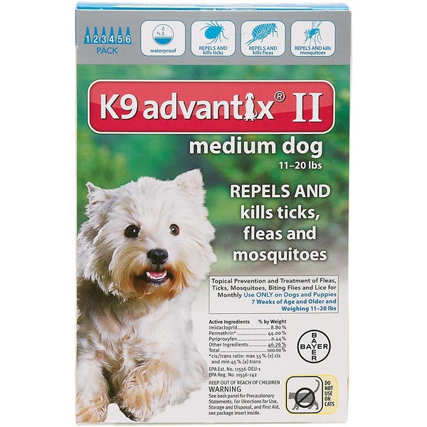 K9 Advantix II Medium Dog Repels & Kills Ticks, Fleas & Mosquitos