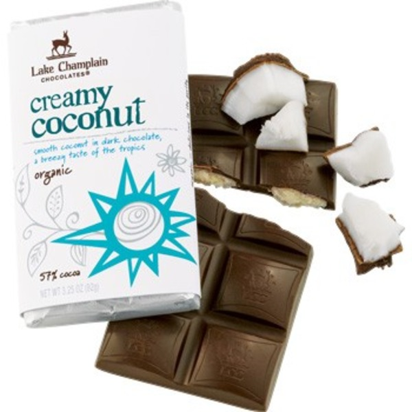 Lake Champlain Chocolates Organic Creamy Coconut Chocolate Bar