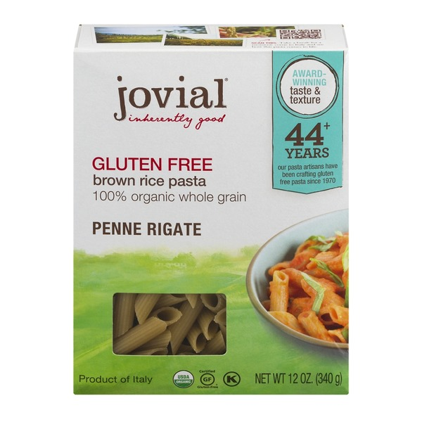 Jovial Gluten Free Brown Rice Penne Rigate