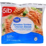 Great Value All Natural Boneless Skinless Chicken Breasts, 5 lbs.