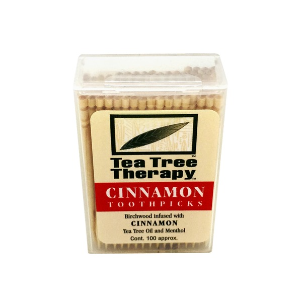 Tea Tree Therapy Toothpicks, Cinnamon