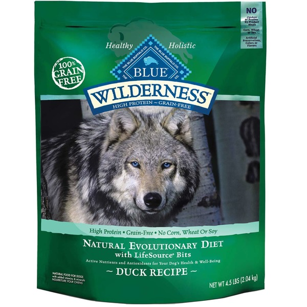 Blue Buffalo Wilderness Natural Evolutionary Diet With Lifesource Bits Duck Recipe