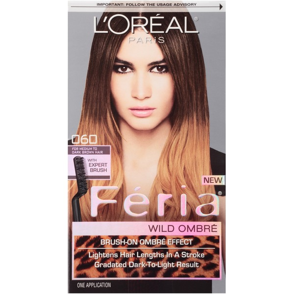 Feria Wild Ombre Medium to Dark Brown O60 Hair Color