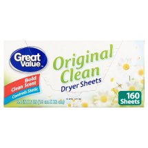 Great Value Ultimate Fresh Dryer Sheets, Original Clean, 160 Count