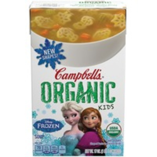 Campbell's Organic Kids Disney Frozen Cool Shapes Soup