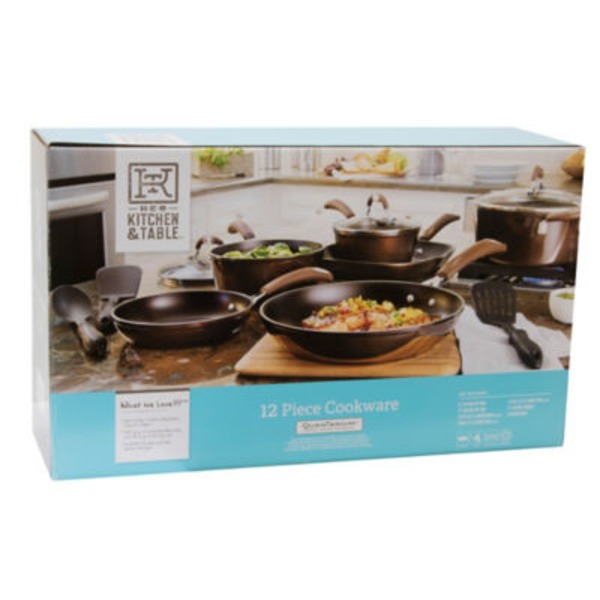 H-E-B Kitchen & Table 12 Piece Cookware Set, Quan Tanium