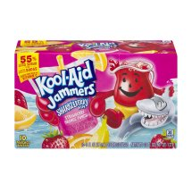 Kool-Aid Jammers Fruit Juice Pouches, Sharkleberry Fin, 6 Fl Oz, 10 Count