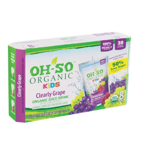 Oh So Organic Kids Clearly Grape