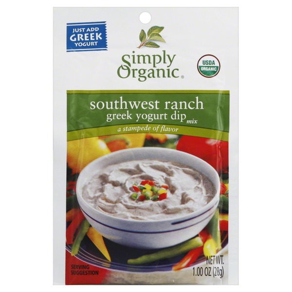Simply Organic Dip Mix, Greek Yogurt, Southwest Ranch
