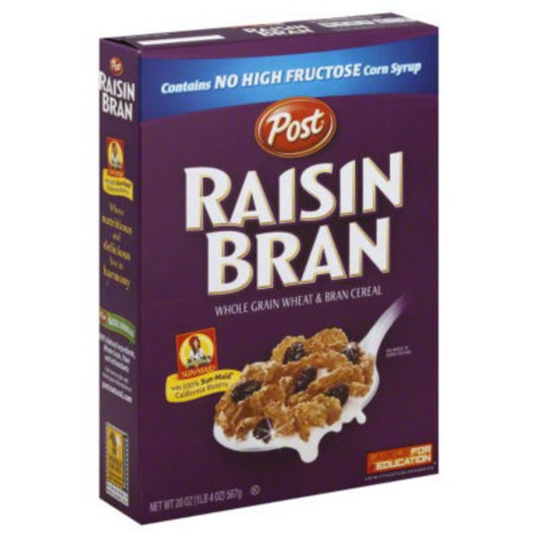 Raisin Bran Whole Grain Wheat & Bran Cereal