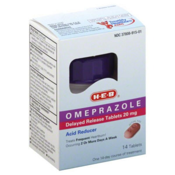 H-E-B Omeprazole Delayed Release Tablets 20mg Acid Reducer
