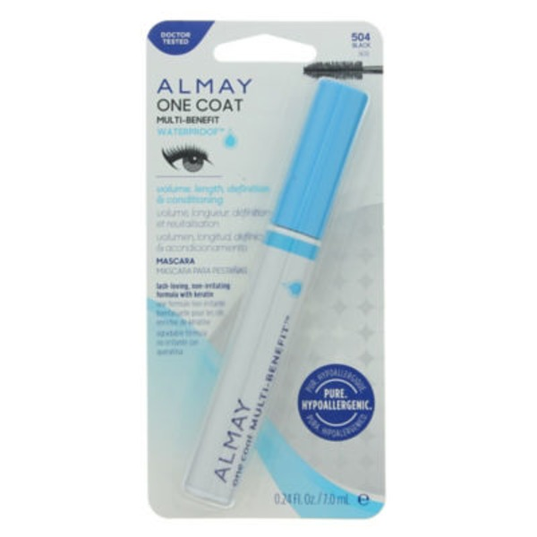 Almay Mascara, Waterproof, Multi-Benefit, Black 504