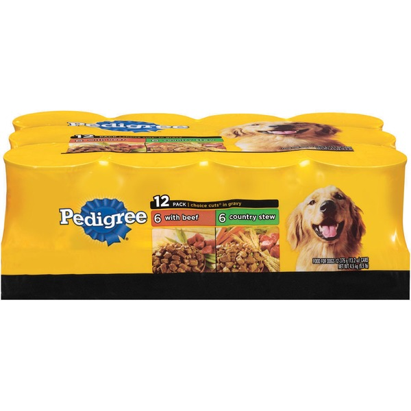 Pedigree Choice Cuts In Gravy Variety Pack 13.2 Oz (PS #5109867) Wet Dog Food
