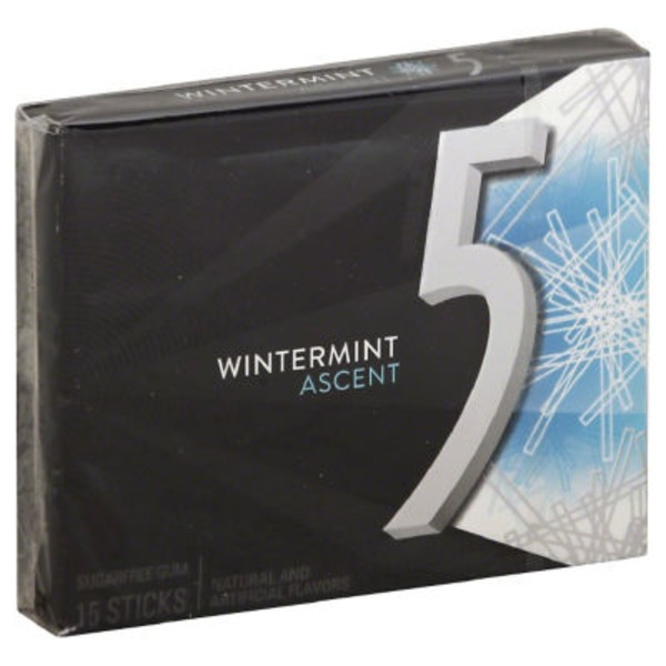 Wrigley's 5 Truth Or Date Sugarfree Gum Wintermint Ascent - 15 CT