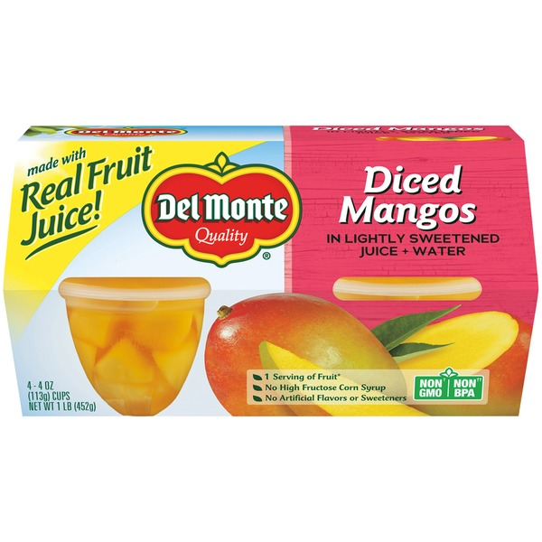 Del Monte Diced Mangos in Light Syrup