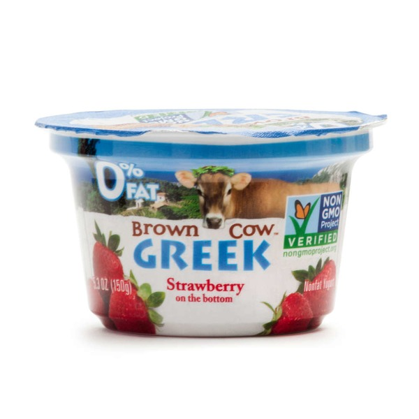 Brown Cow Strawberry on the Bottom Greek Nonfat Yogurt