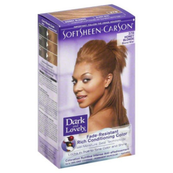 Dark and Lovely Fade Resistant Rich Conditioning Color 378 Honey Blonde Hair Color