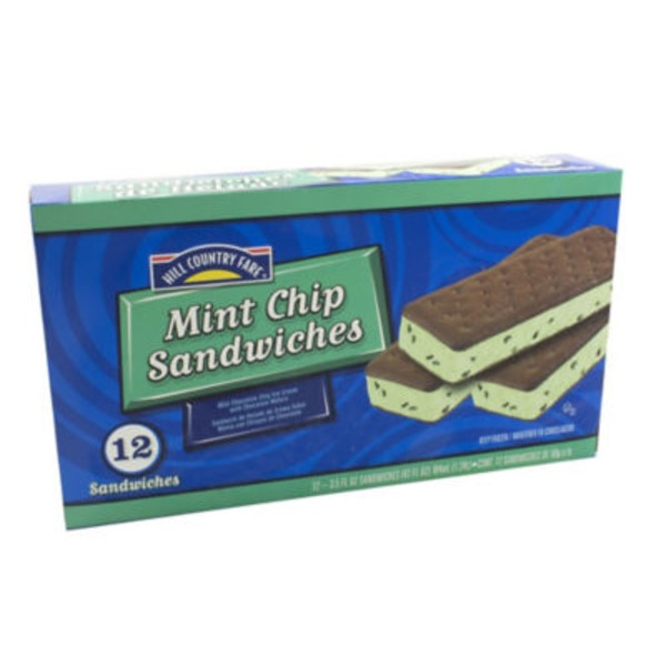 Hill Country Fare Mint Chip Ice Cream Sandwiches