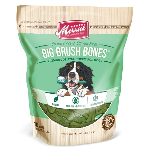 Merrick Big Brush Bones Dog Dental Chews