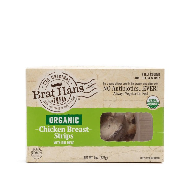 Brat Hans Organic Chicken Breast Strips