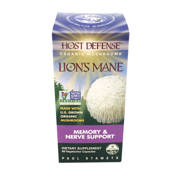 Host Defense Lion's Mane Memory & Nerve Support Vegetarian Capsules