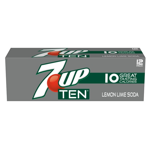 7-UP Ten Lemon Lime Soda - 12 PK