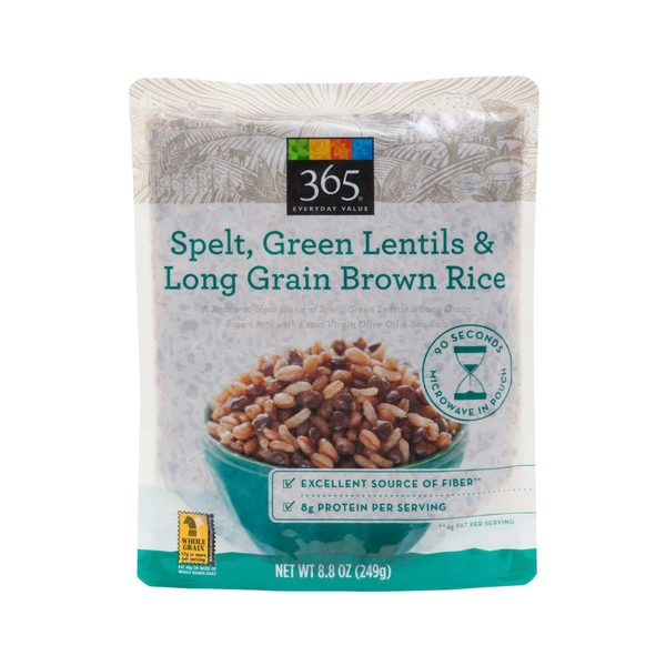 365 Spelt, Green Lentil And Long Grain Brown Rice
