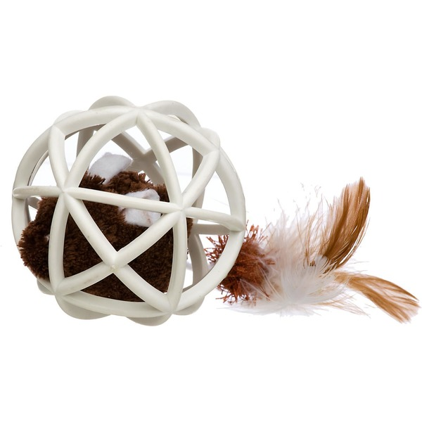 OurPets Twinkle Mini Ball of Furry Fury Cage Ball Cat Toy