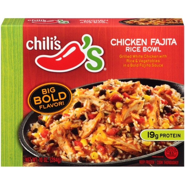 Chili's Rice Bowl Chicken Fajita Frozen Dinner