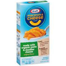 Kraft Original Flavor Macaroni & Cheese Dinner Made with Organic Pasta & Cheddar Cheese