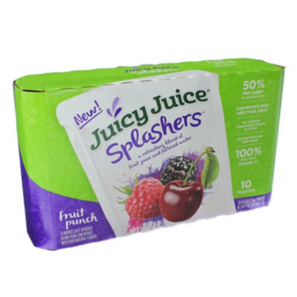 Juicy Juice Splashers Fruit Punch Flavored Juice Beverage