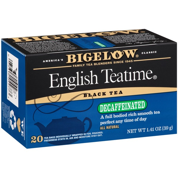 Bigelow English Teatime Decaffeinated Tea Blend Decaffeinated Tea Bags