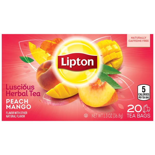 Lipton Peach Mango Herbal Tea Bags
