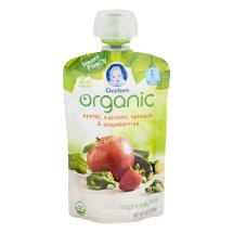Gerber Organic 2nd Foods Baby Food, Apples, Zucchini, Spinach & Strawberries, 3.5 oz Pouch