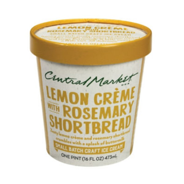 Central Market Lemon Creme Rosemary Shortbread Crumble Ice Cream