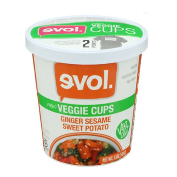 Evol Foods Ginger Sesame Sweet Potato Veggie Cups