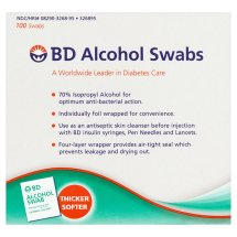 Beckton & Dickenson: w/Antiseptic & Individually Foil Wrapped Alcohol Swabs No. 326895, 100 Ea