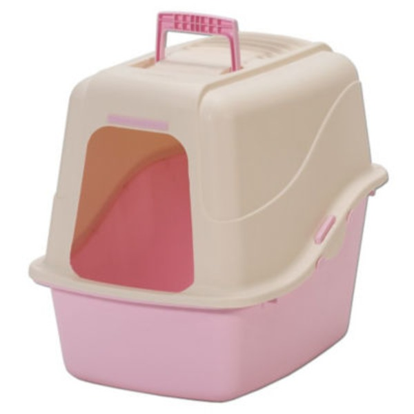Petmate Pink Hooded Litter Pan Set With Microban