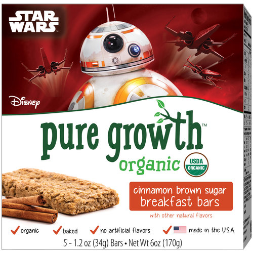 Pure Growth Organic Disney Star Wars Cinnamon Brown Sugar Breakfast Bars