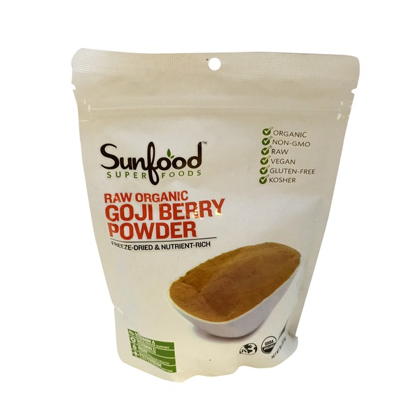 Sunfood Nutrition Raw Organic Goji Berry Powder