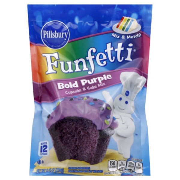 Pillsbury Bold Purple Cupcake & Cake Mix