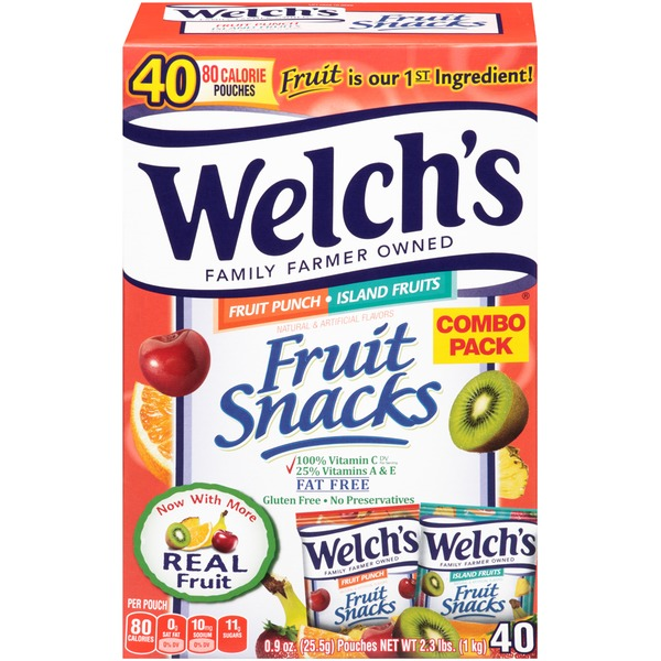 Welch's Fruit Snacks Combo Pack Fruit Punch/Island Fruits Fruit Snacks